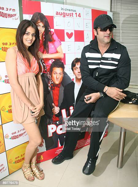 Bollywood actors Genelia D'Souza and Fardeen Khan at a promotional event for her film Life Partner in Mumbai on Monday August 10 2009