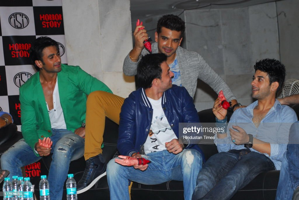 Bollywood actors Hasan Zaidi, Karan Kundra, Ravish Desai and