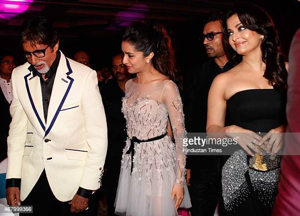 Bollywood actors Irrfan Khan, Aishwarya Rai Bachchan, Shraddha Kapoor and Amitabh Bachchan during the Hindustan Times Mumbai's Most Stylish Awards...