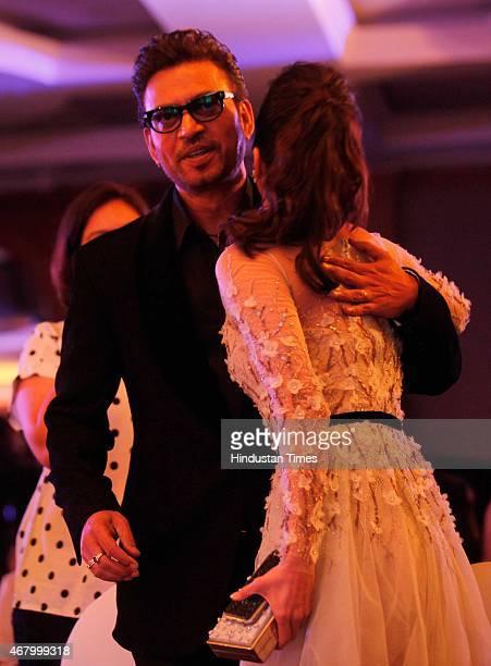 Bollywood actors Irrfan Khan and Shraddha Kapoor during the Hindustan Times Mumbai's Most Stylish Awards 2015 at JW Mariott Hotel, Juhu on March 26,...