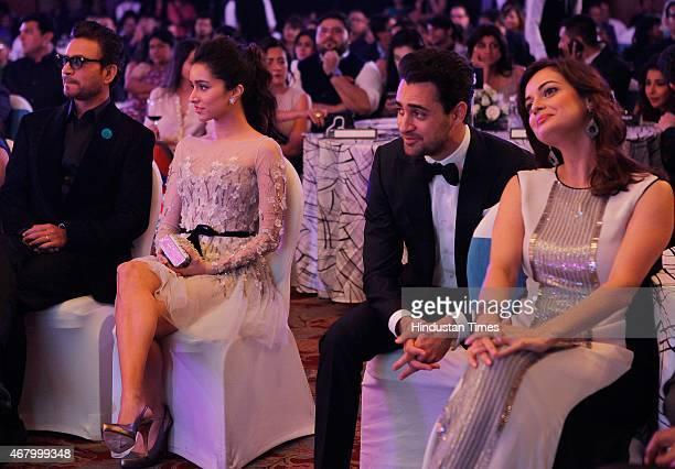 Bollywood actors Irrfan Khan, Shraddha Kapoor, Imran Khan and Dia Mirza during the Hindustan Times Mumbai's Most Stylish Awards 2015 at JW Mariott...