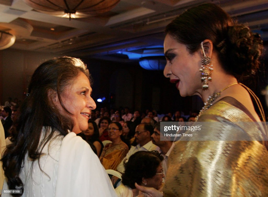 Bollywood actors Jaya Bachchan and Rekha Launch of the Gautam Rajadhyaksha `s Book Chehre at JW Marriott at Juhu
