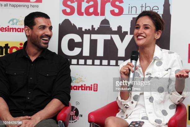 Bollywood actors John Abraham and Aisha Sharma during an exclusive interview with HT CityHindustan Times for the promotion of upcoming movie...