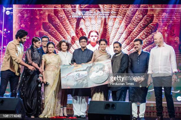 Bollywood actors Kangana Ranaut Ankita Lokhande Tahir Shabbir Mishti Chakraborty and Unnati Davara musicians Shankar Mahadevan Ehsaan Noorani and Loy...