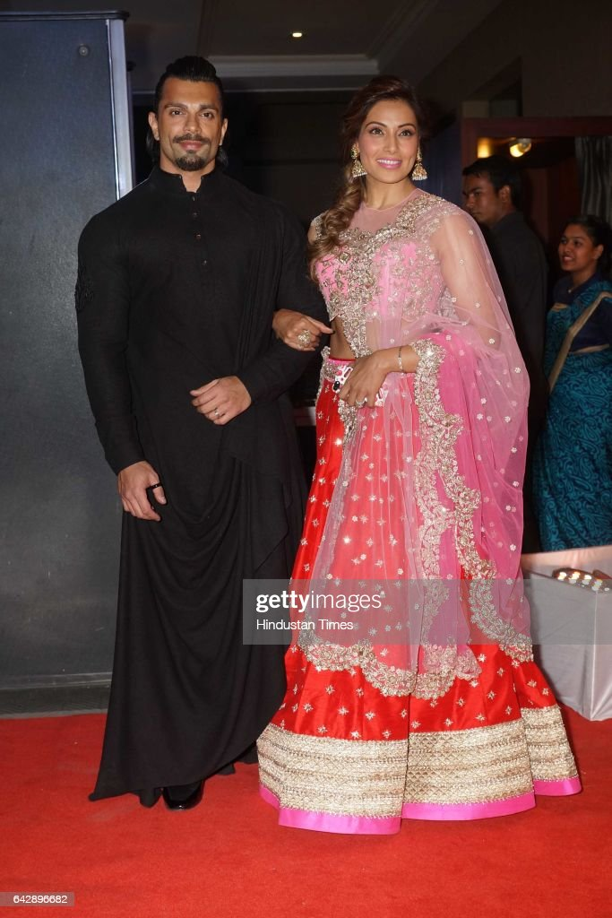 Bollywood actors Karan Singh Grover and Bipasha Basu during the wedding reception of Bollywood actor Neil Nitin Mukesh and his wife Rukmini Sahay on..