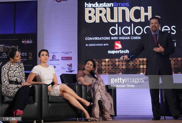 Bollywood actors Kareena Kapoor, Karisma Kapoor and Sharmila Tagore at HT Brunch Dialogues, on September 14, 2012 in Mumbai, India.