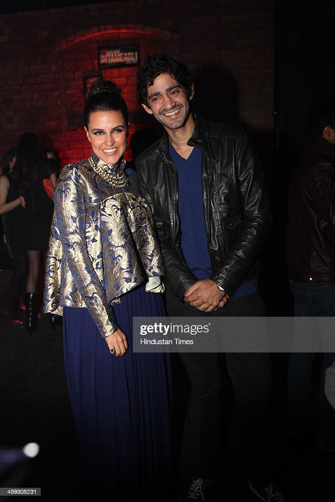 Bollywood actors Neha Dhupia and Gaurav Kapoor during the launch of Bacardis new logo and the marketing campaign Bacardi Untameable Since 1862 at...