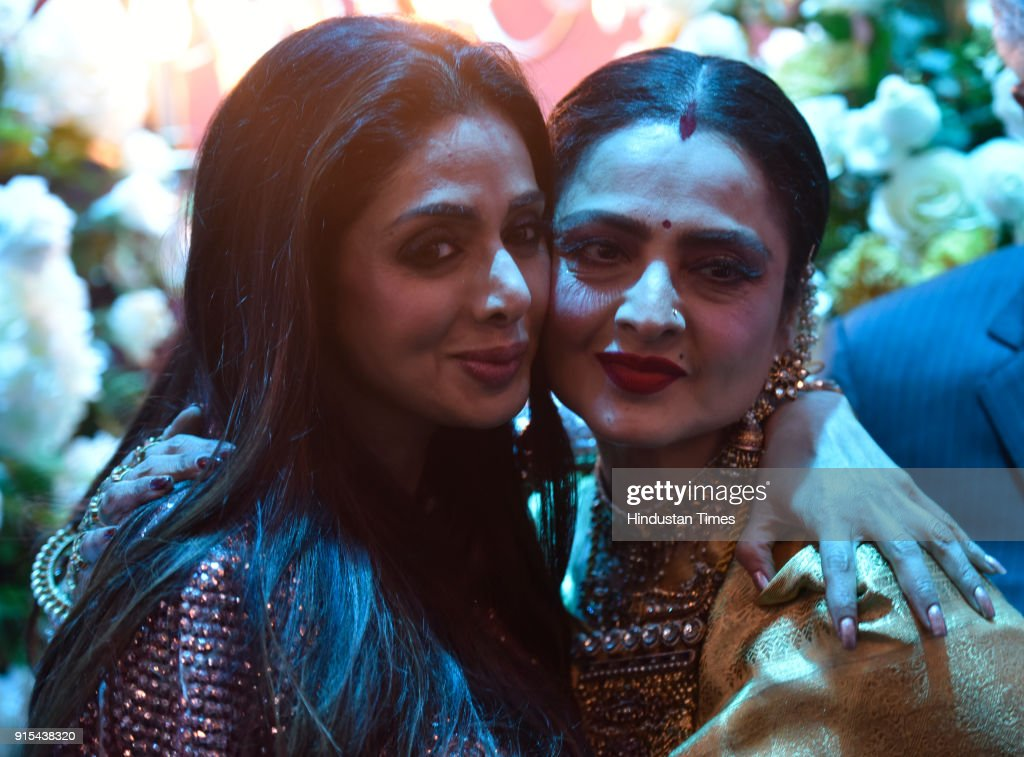 Bollywood actors Rekha and Sridevi during Hindustan Times India`s Most Stylish Awards at Yash Raj Films Private Limited on January 24 2018 in Mumbai..