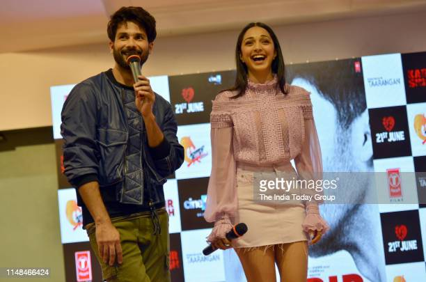 Bollywood Actors Shahid Kapoor and Kiara Advani clinked during the song launch of 'Mere Sohneya' from their upcoming film 'Kabir Singh' in Mumbai