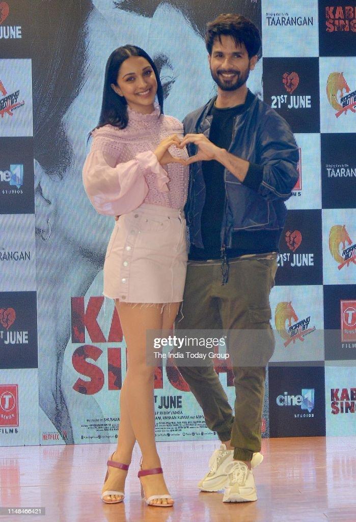 Shahid Kapoor and Kiara Advani at the song launch from their upcoming film 'Kabir Singh' : News Photo