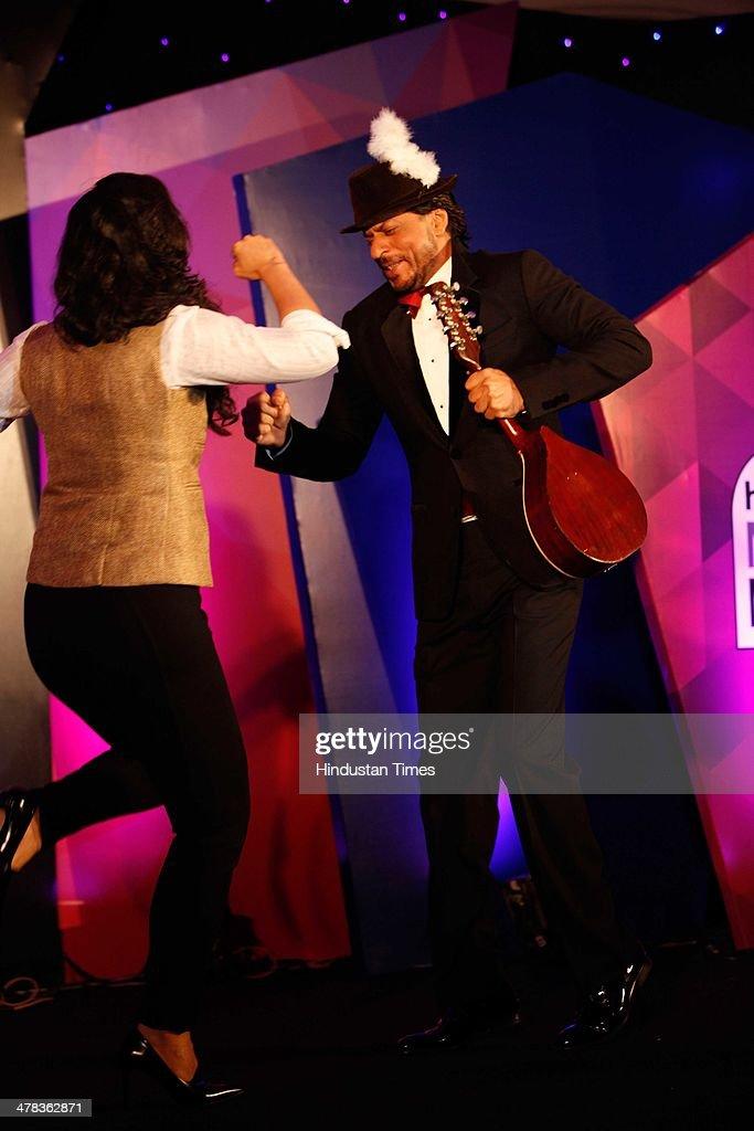 Bollywood actors Shahrukh Khan and Kajol Devgan during the Hindustan Times Mumbais `Most Stylish Awards 2014` at ITC Grand Central Parel on March 8...