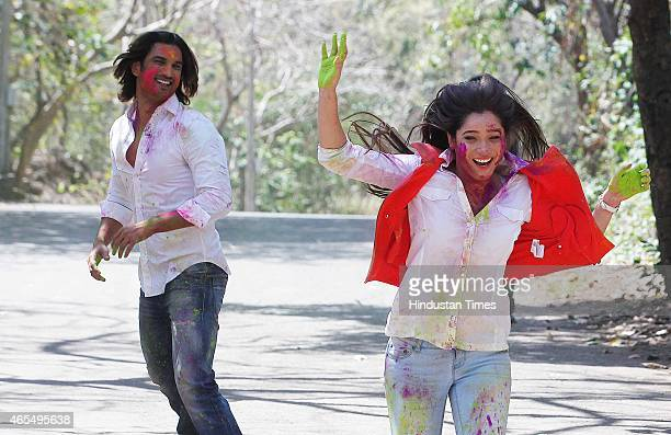 Bollywood actors Sushant Singh Rajput and Ankita Lokhande exclusive photo shoot for Holi special during an interview share their Holi plans and...