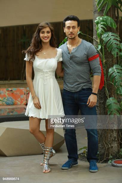 Bollywood actors Tiger Shroff and Disha Patani during an interview with HT CityHindustan Times for the promotion of upcoming movie 'Baaghi 2' at Le...