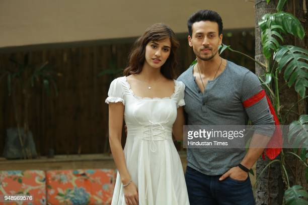 Bollywood actors Tiger Shroff and Disha Patani during an interview with HT CityHindustan Times for the promotion of upcoming movie Baaghi 2 at Le...