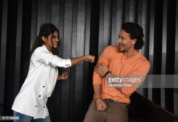 Bollywood actors Tiger Shroff And Nidhhi Agerwal during an exclusive interview with Hindustan Times for the promotion of upcoming movie Munna Michael...