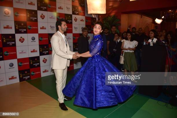 Bollywood actors Varun Dhawan and Alia Bhatt at Zee Cine Awards 2018 night on December 19 2017 in Mumbai India