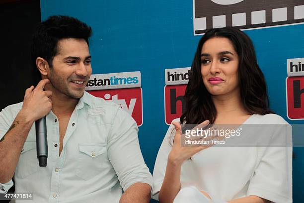 Starcast Of Bollywood Movie Abcd 2 At Ht House For Promotion