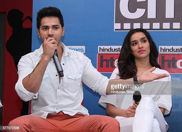 Bollywood actors Varun Dhawan and Shraddha Kapoor during an exclusive interview with HT CityHindustan Times for the promotion of upcoming film 'ABCD...