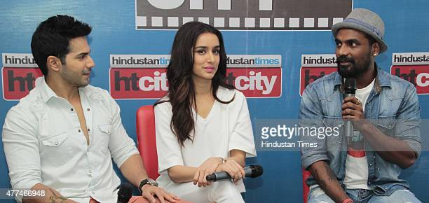 Bollywood actors Varun Dhawan and Shraddha Kapoor with director Remo D'Souza during an exclusive interview with HT CityHindustan Times for the...