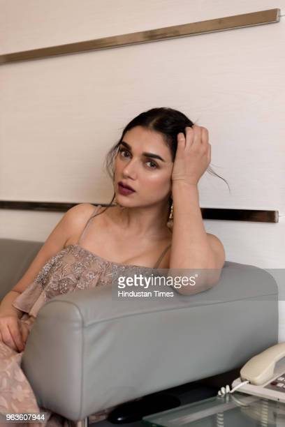 Bollywood Actress Aditi Rao Hydari poses for a profile shoot on May 20 2018 in New Delhi India