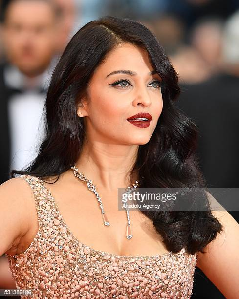Bollywood actress Aishwarya Rai Bachchan arrives for the screening of the film 'The BFG at the 69th annual Cannes Film Festival in Cannes on May 14...