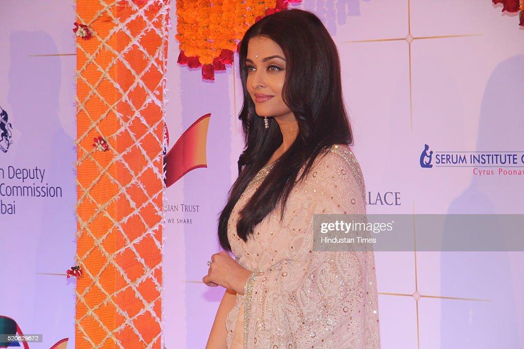 Bollywood actress Aishwarya Rai Bachchan attends the Bollywood Charity Gala at the Taj Palace Hotel on April 10 2016 in Mumbai India