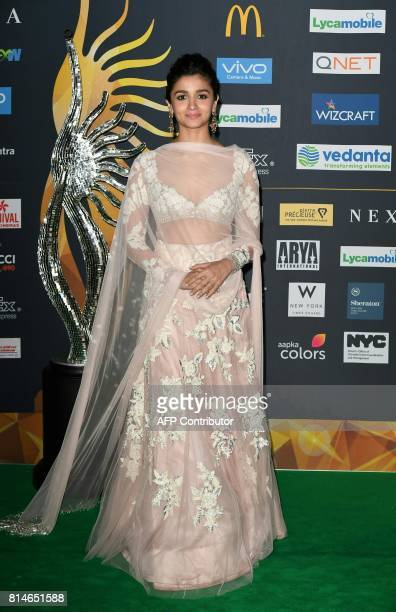 Bollywood Actress Alia Bhatt arrives for IIFA Rocks July 14 2017 at the MetLife Stadium in East Rutherford New Jersey during the 18th International...