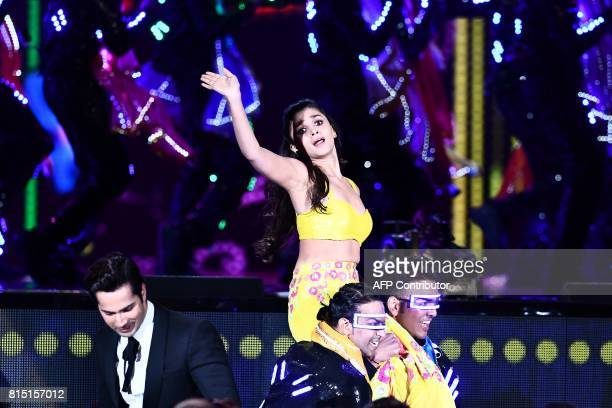 Bollywood actress Alia Bhatt performs during the IIFA Awards of the 18th International Indian Film Academy Festival at the MetLife Stadium in East...