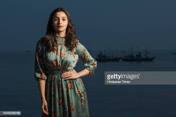 Bollywood actress Alia Bhatt poses for a profile shoot at Mukesh Mills Colaba on December 18 2017 in Mumbai India