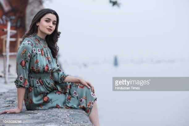 Bollywood actress Alia Bhatt poses for a profile shoot at Mukesh Mills Colaba on December 18 2017 in Mumbai India