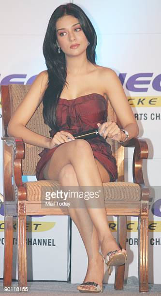 Bollywood actress Amrita Rao at a promotional event for a sports television channel in Mumbai on Tuesday August 25 2009 The function was held to mark...
