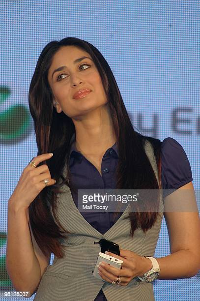 Kareena kapoor stock photos and pictures getty images bollywood actress and brand ambassador of sony ericsson cellular telephones kareena kapoor poses with sony ericssons voltagebd Images