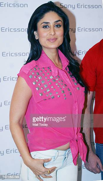 Bollywood actress and Sony Ericsson brand ambassador Kareena Kapoor attends the Sony Ericsson Contest winner event at 'Shopper Stop' department store...