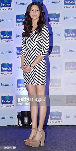 Bollywood actress Anushka Sharma during a press conference in Mumbai on Monday