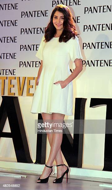 Bollywood actress Anushka Sharma during the launch of Best Ever Pantene at JW Marriott Juhu on July 29 2015 in Mumbai India