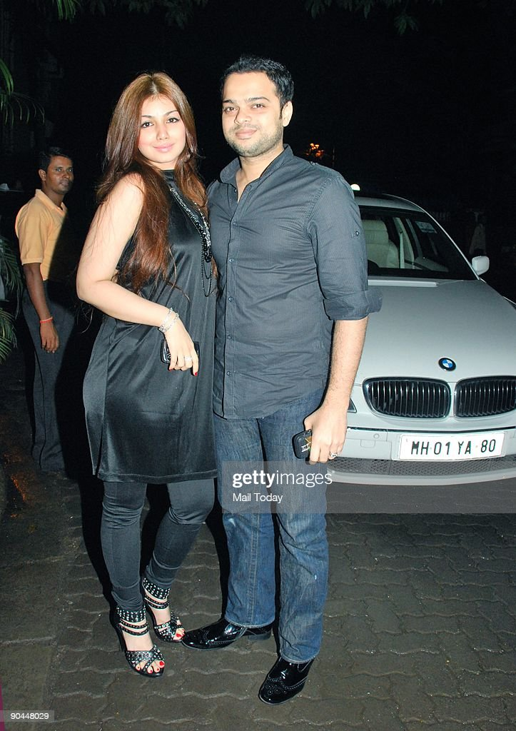 Bollywood actress Ayesha Takia arrives with her husband Farhan Azmi to attend a party to celebrate the success of the film Love Aaj Kal in Mumbai on..