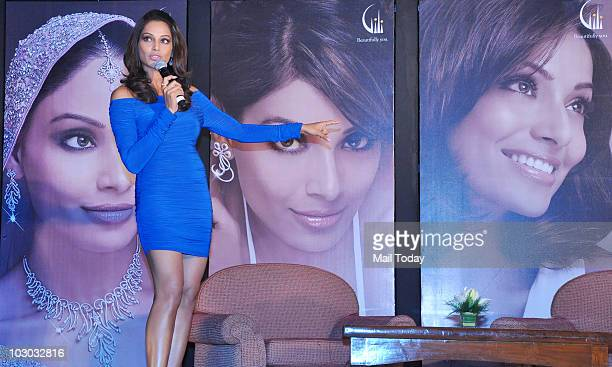Bollywood actress Bipasha Basu attends the launch of Gili's new jewelry campaign in Mumbai on July 21 2010