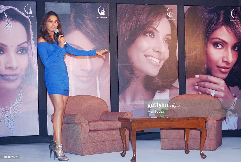 Bollywood actress Bipasha Basu attends the launch of Gili`s new jewelry campaign in Mumbai on July 21 2010