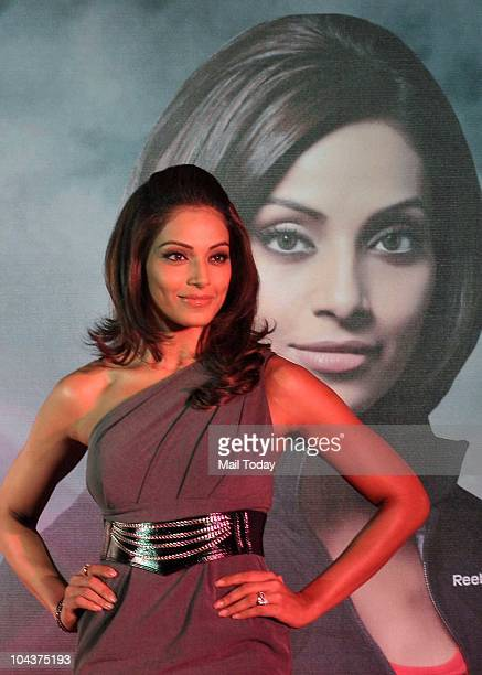 Bollywood actress Bipasha Basu during a press conference of Delhi Half Marathon which will be held on November 21 in New Delhi on September 22 2010