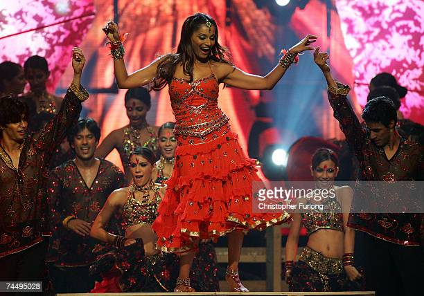 Bollywood actress Bipasha Basu performs on stage at the International Indian Film Academy Awards at the Sheffield Hallam Arena on June 9, 2007 in...