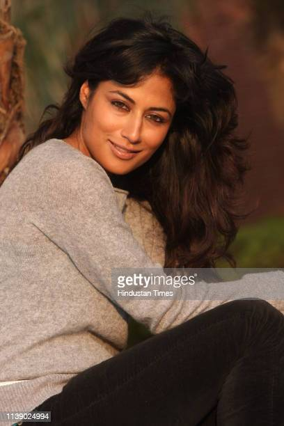 Bollywood actress Chitrangada Singh poses during a photo shoot on November 24 2008 in New Delhi India