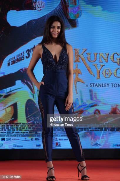 Bollywood actress Disha Patani during the promotion of her movie 'Kung Fu Yoga, on January 23, 2020 in Mumbai, India.