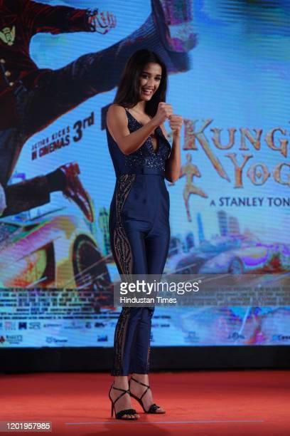 Bollywood actress Disha Patani during the promotion of movie 'Kung Fu Yoga', on January 23, 2017 in Mumbai, India.