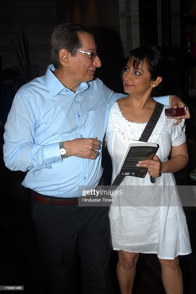 Bollywood actress Divya Dutta with Indian cosmetologist Dr Dinyar Workingboxwalla during the launch of his book `Beauty Unleashed A comprehensive...