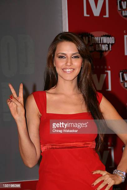 Bollywood Actress Ex Miss India Neha Dhupia at the press conference to announce India's first ever Live Bollywood flick titled 'Andaz Apna Very...
