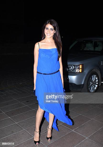 Bollywood actress Genelia D'Souza at the 25th wedding anniversary of Ramesh Taurani in Mumbai on Tuesday August 11 2009