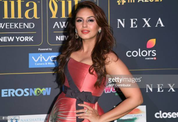 Bollywood Actress Huma Qureshi arrives for the IIFA Awards July 15 2017 at the MetLife Stadium in East Rutherford New Jersey during the 18th...