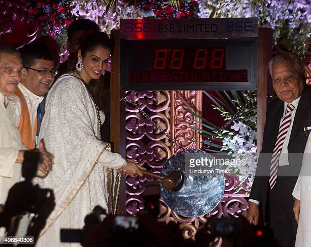 Bollywood actress Isha Koppikar during the special Muhurat Trading session on the occasion of Diwali at the Bombay Stock Exchange on November 11 2015...