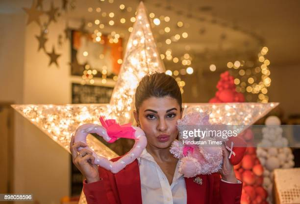 Bollywood Actress Jacqueline Fernandez poses for a special profile shoot for Christmas at JW Marriott Juhu on December 22 201 in Mumbai India