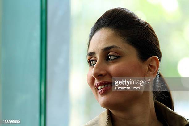 Bollywood Actress Kareena Kapoor at HT City office on February 8 2012 in New Delhi India She was on promotion tour for her movie Ek Main Aur Ek Tu...